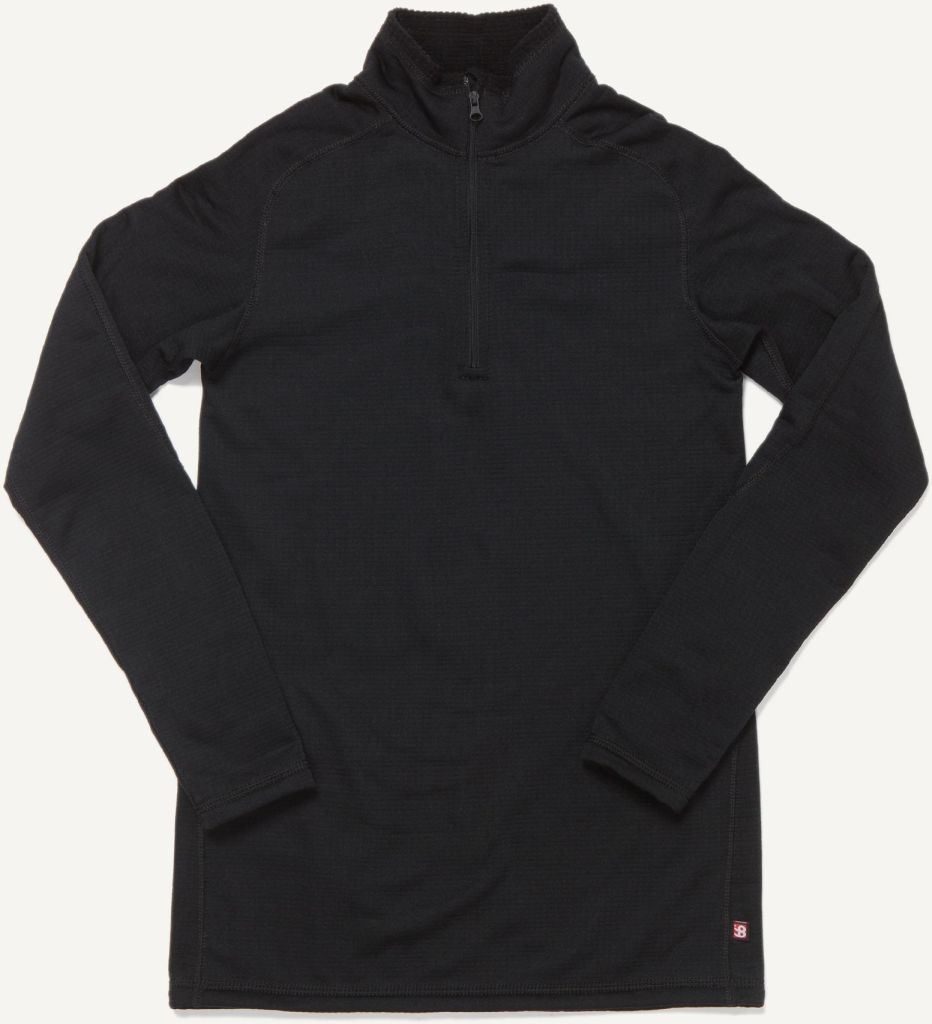 Grettir Zip Neck Black-30