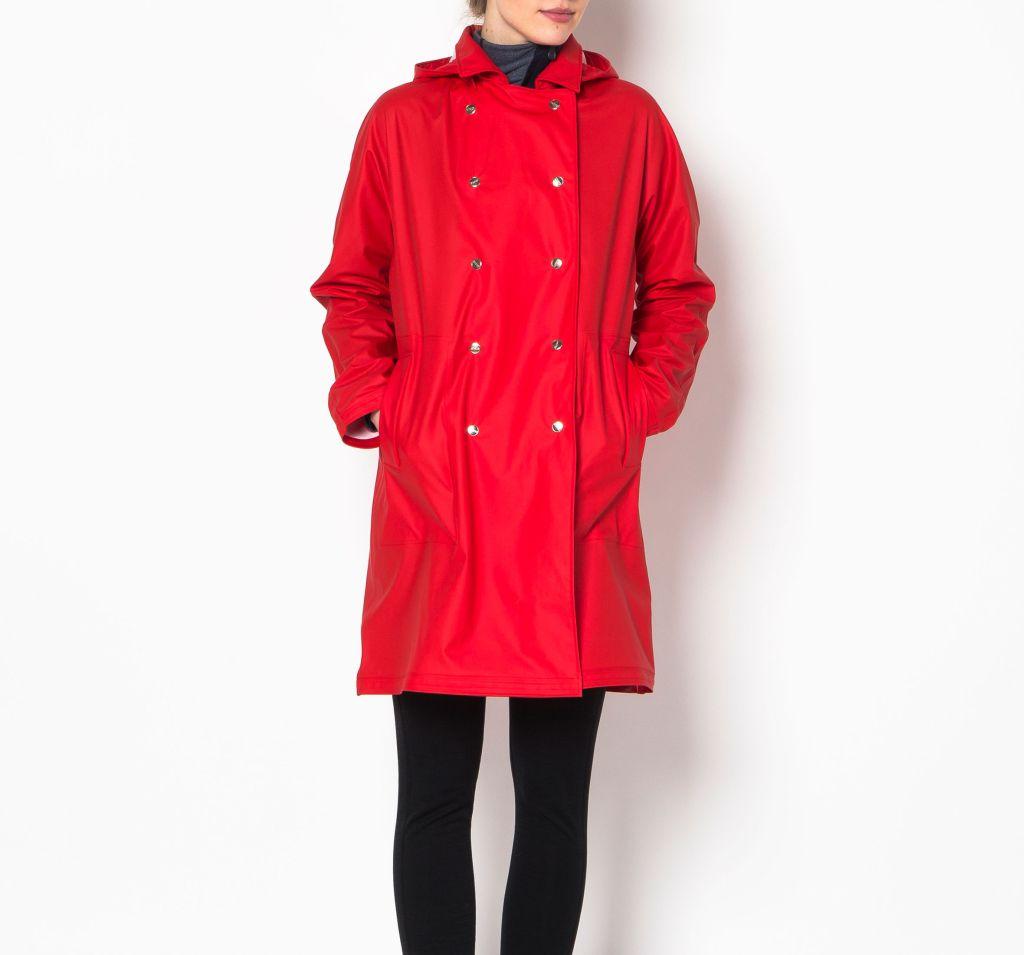 Laugavegur Women´s Raincoat Red-30