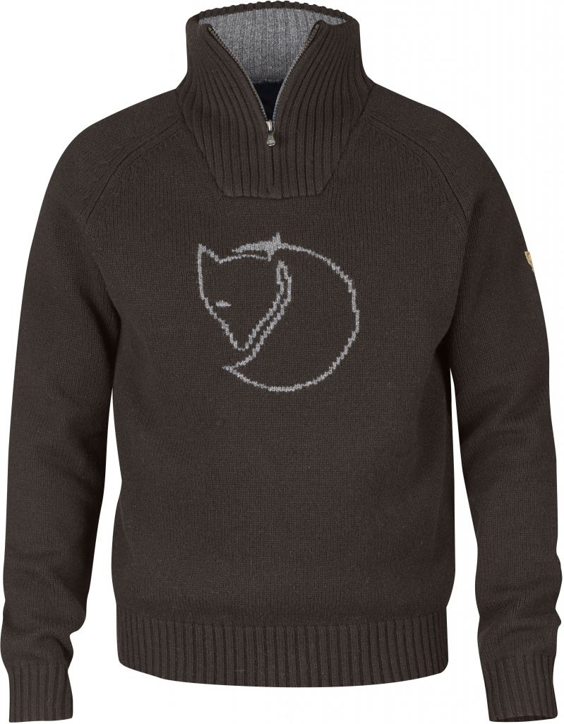 FjallRaven Red Fox Sweater Black Brown-30