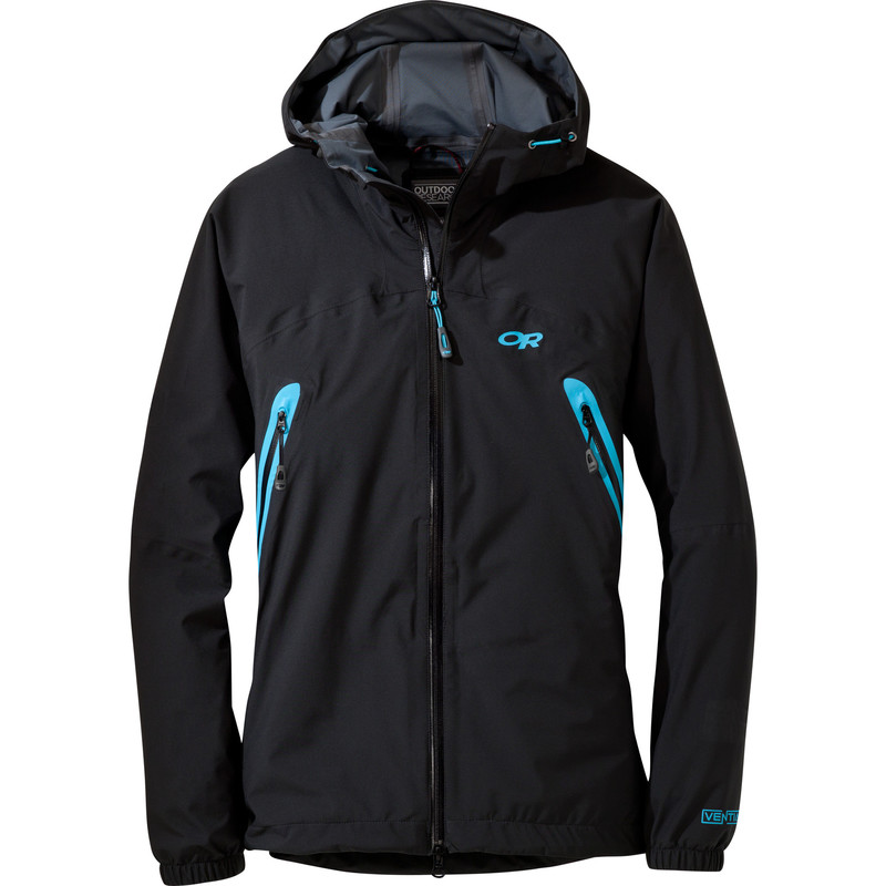 Outdoor Research Women´s Allout Hooded Jacket Black/Rio-30