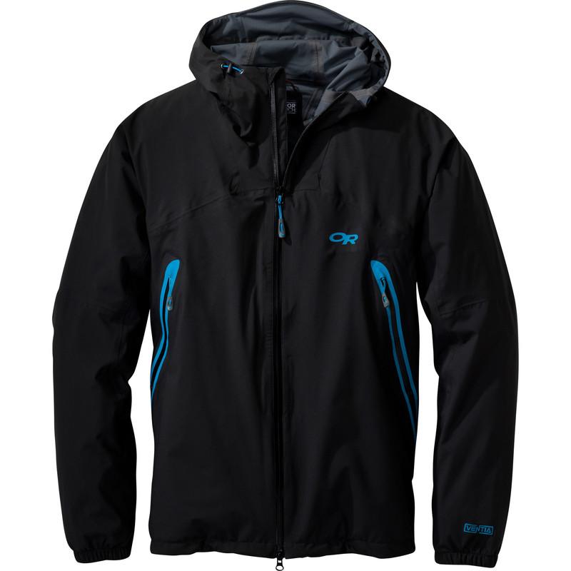 Outdoor Research Men´s Allout Hooded Jacket Black/Hydro-30