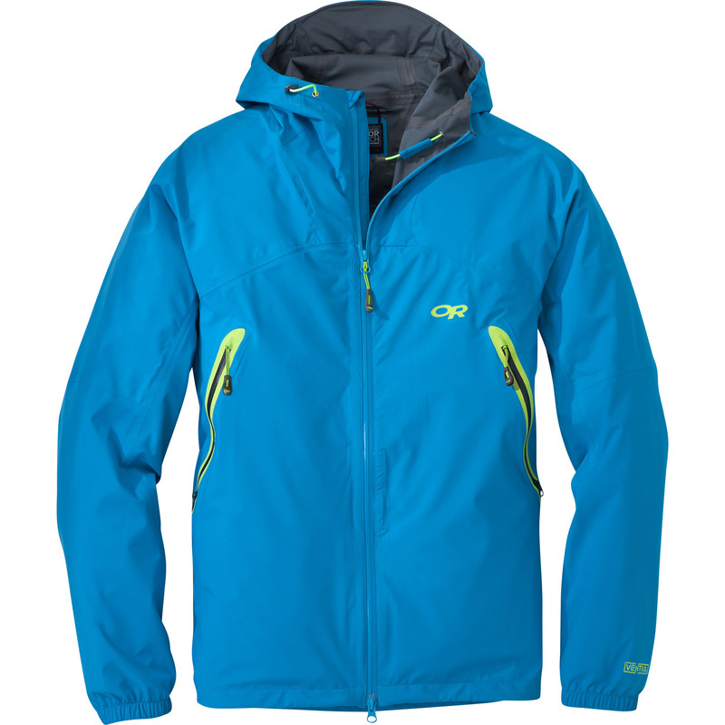 Outdoor Research Men´s Allout Hooded Jacket Hydro/Lemongrass-30