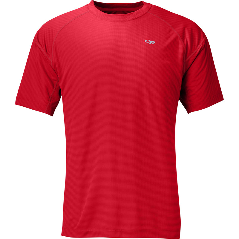 Outdoor Research Men´s Echo Tee Hot Sauce/Redwood-30