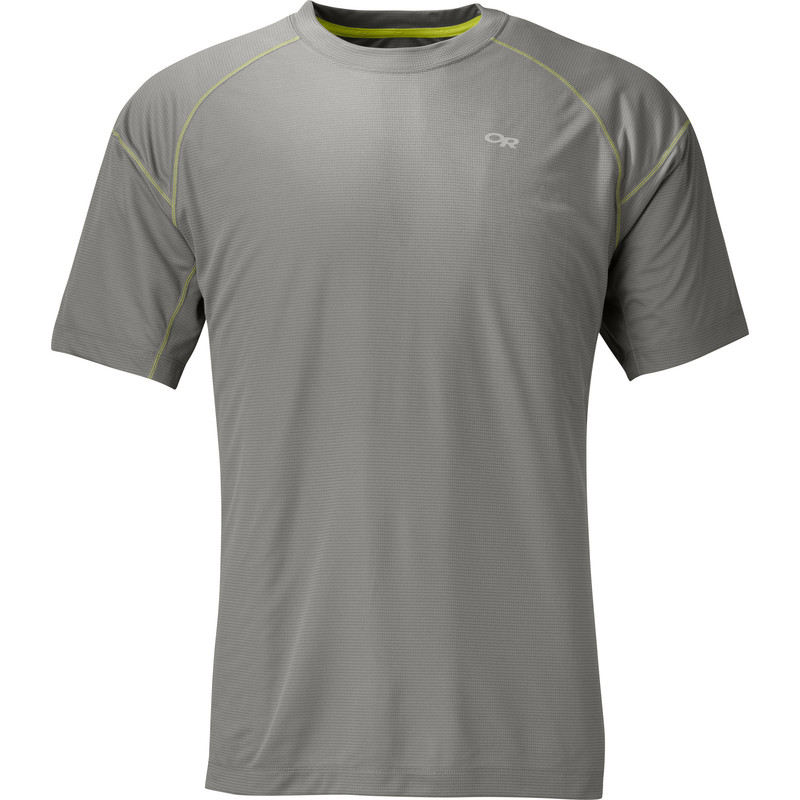 Outdoor Research Men´s Echo Tee Pewter/Lemongrass-30
