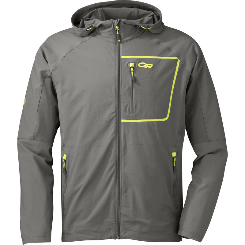 Outdoor Research Men´s Ferrosi Hoody Pewter/Lemongrass-30