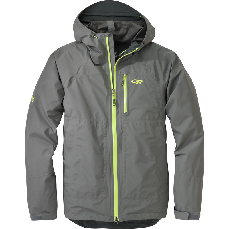 Outdoor Research Men´s Foray Jacket Pewter/Lemongrass-30