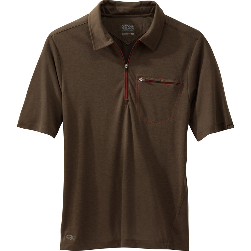Outdoor Research Men´s Sequence S/S Polo Earth/Diablo-30