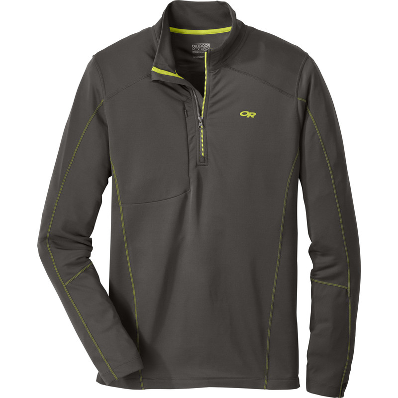 Outdoor Research Men´s Delta L/S Zip Top 890-CHARCOAL-30