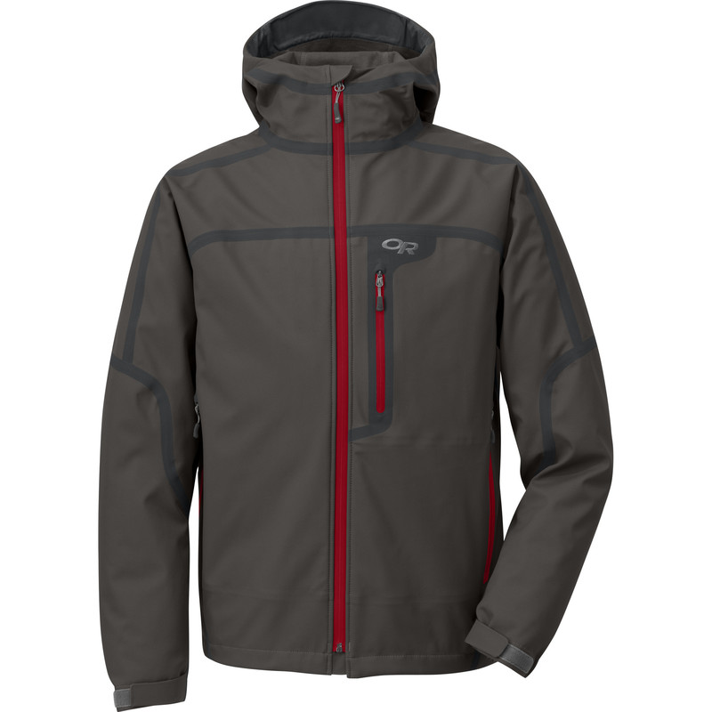 Outdoor Research Men´s Mithril Jacket 075-CHARCOAL/REDWOOD-30