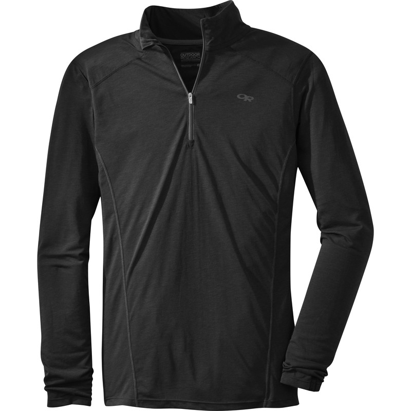 Outdoor Research Men´s Sequence L/S Zip Top 001-BLACK-30