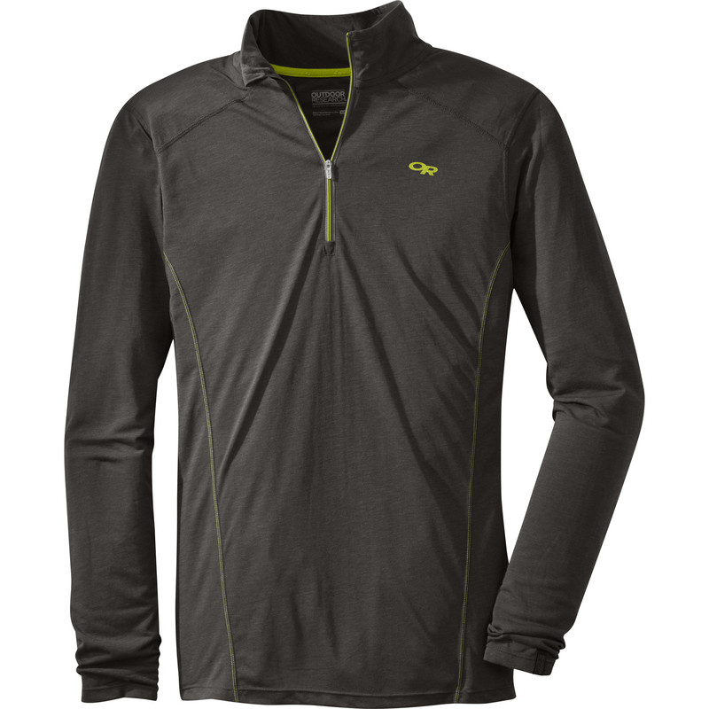 Outdoor Research Men´s Sequence L/S Zip Top 890-CHARCOAL-30
