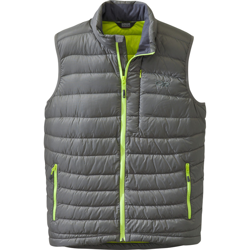 Outdoor Research Men´s Transcendent Vest Pewter/Lemongrass-30
