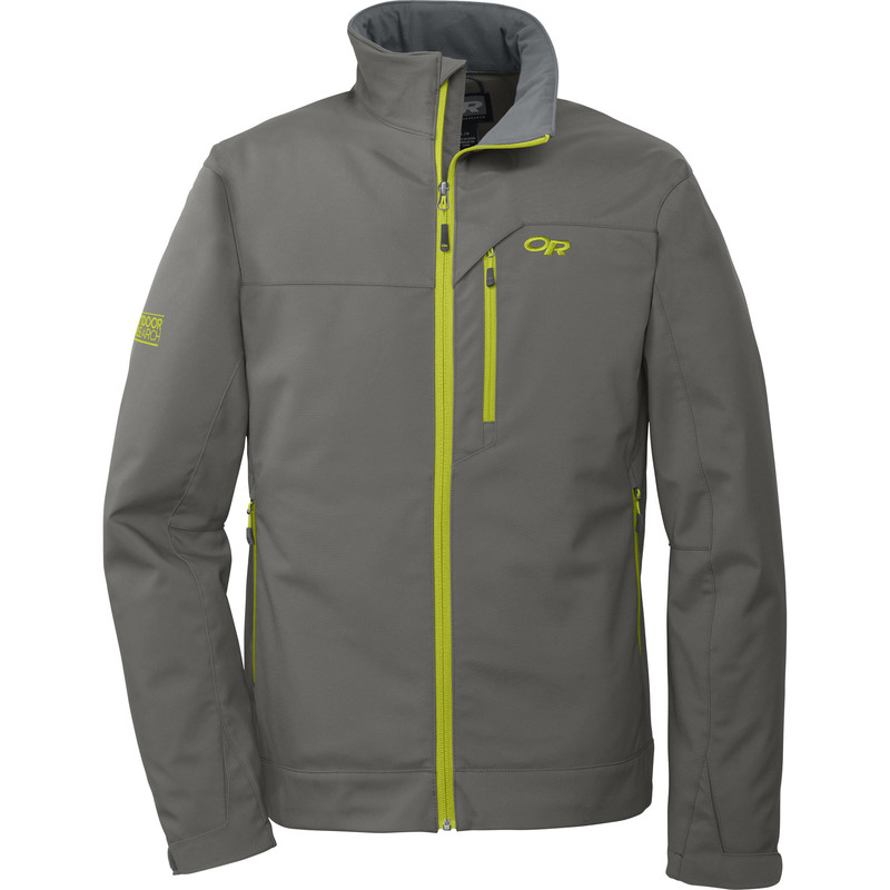 Outdoor Research Men´s Transfer Jacket 054-PEWTER/LEMONGRASS-30