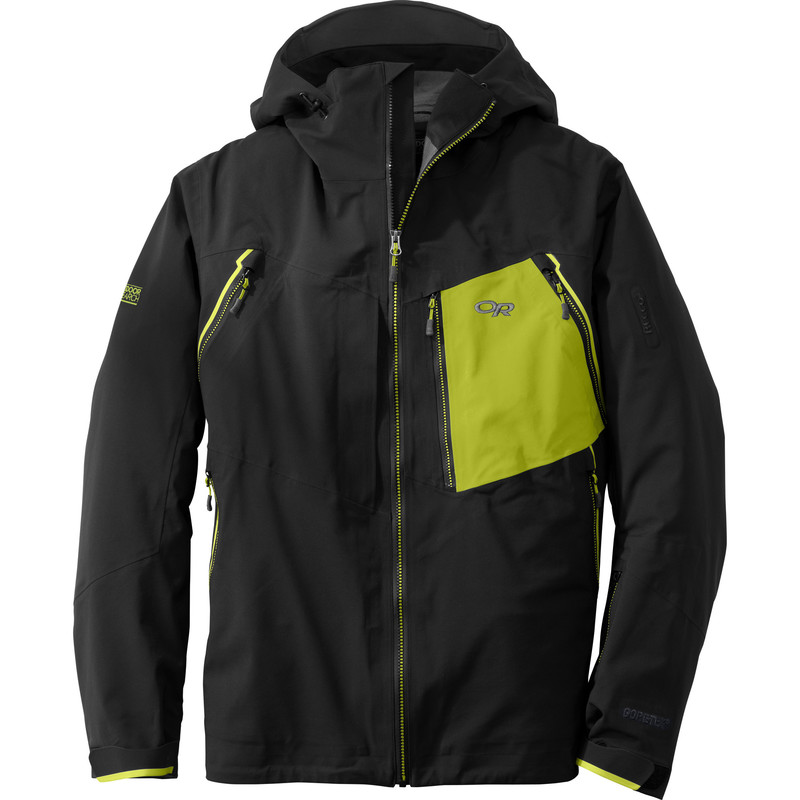 Outdoor Research Men´s White Room Jacket 151-BLACK/LEMONGRASS-30