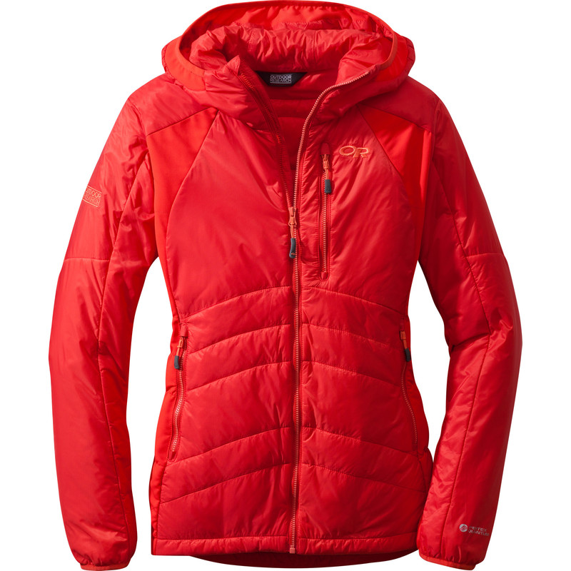 Outdoor Research Women´s Cathode Hoody 164-FLAME/REDWOOD-30