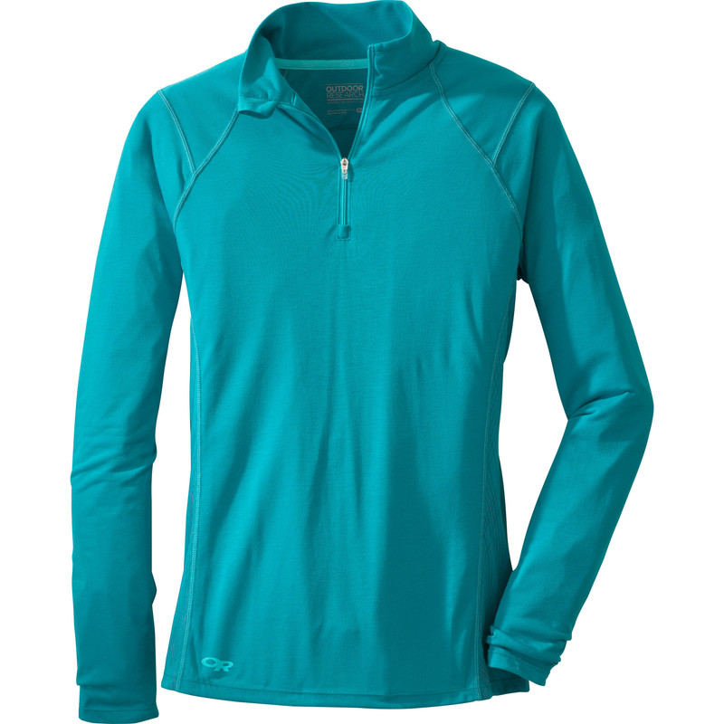 Outdoor Research Women´s Essence L/S Zip Top 46B-ALPINE LAKE/RIO-30