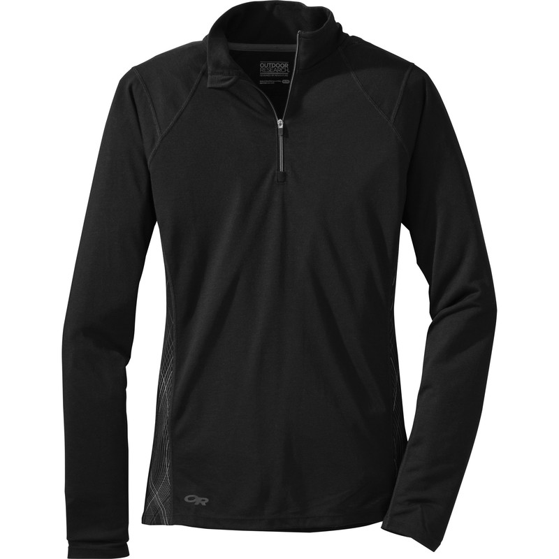 Outdoor Research Women´s Essence L/S Zip Top 189-BLACK/CHARCOAL-30