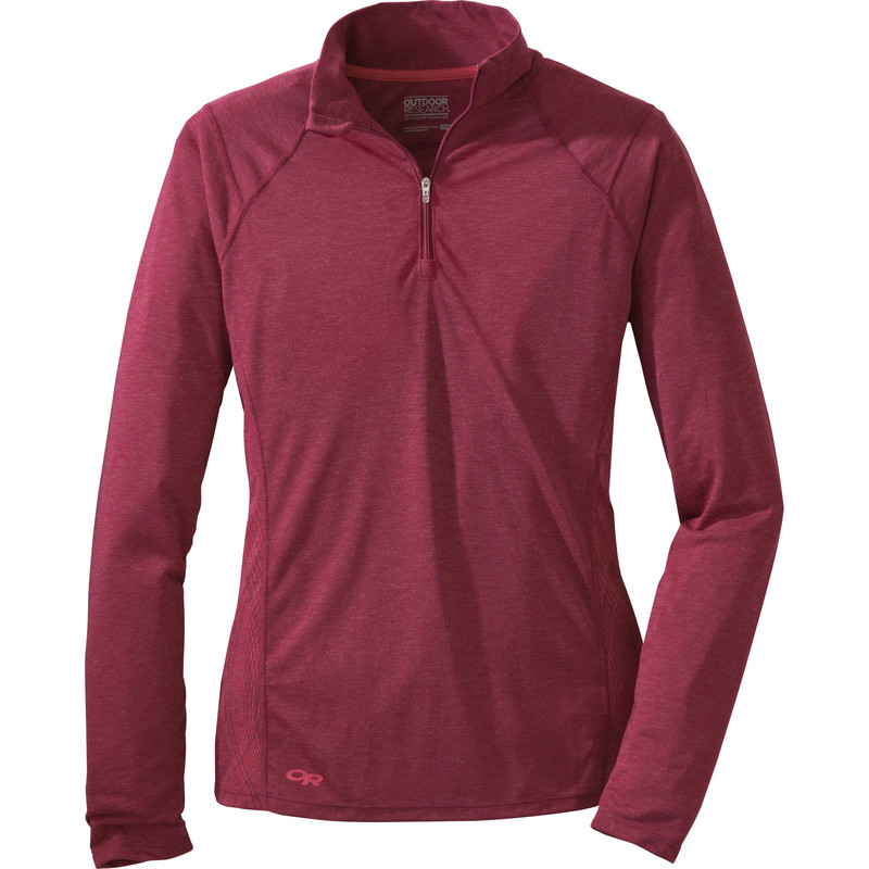 Outdoor Research Women´s Essence L/S Zip Top 137-MULBERRY/DESERT SUNRISE-30