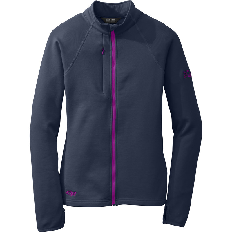 Outdoor Research - Women´s Radiant Hybrid Jacket 59B-NIGHT/ULTRAVIOLET - Fleece Jackets - XL