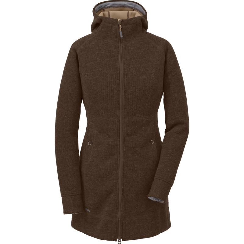 Outdoor Research - Women´s Long Salida Hoody 820-EARTH - Wool Coats - S
