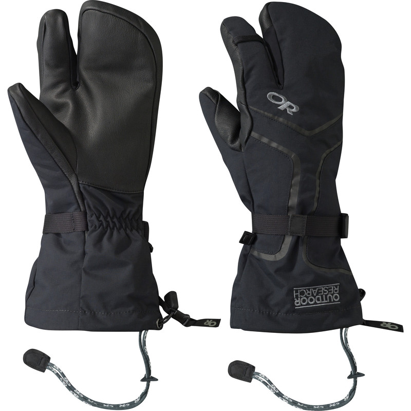 Outdoor Research Men´s Highcamp 3-Finger Gloves Black-30