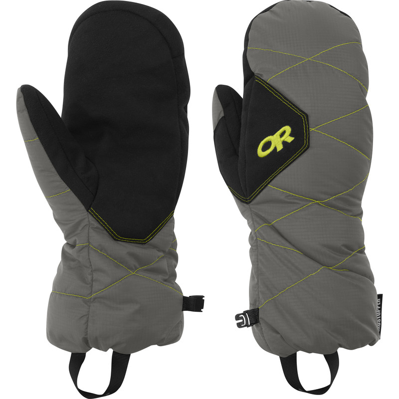 Outdoor Research Phosphor Mitts 054-PEWTER/LEMONGRASS-30
