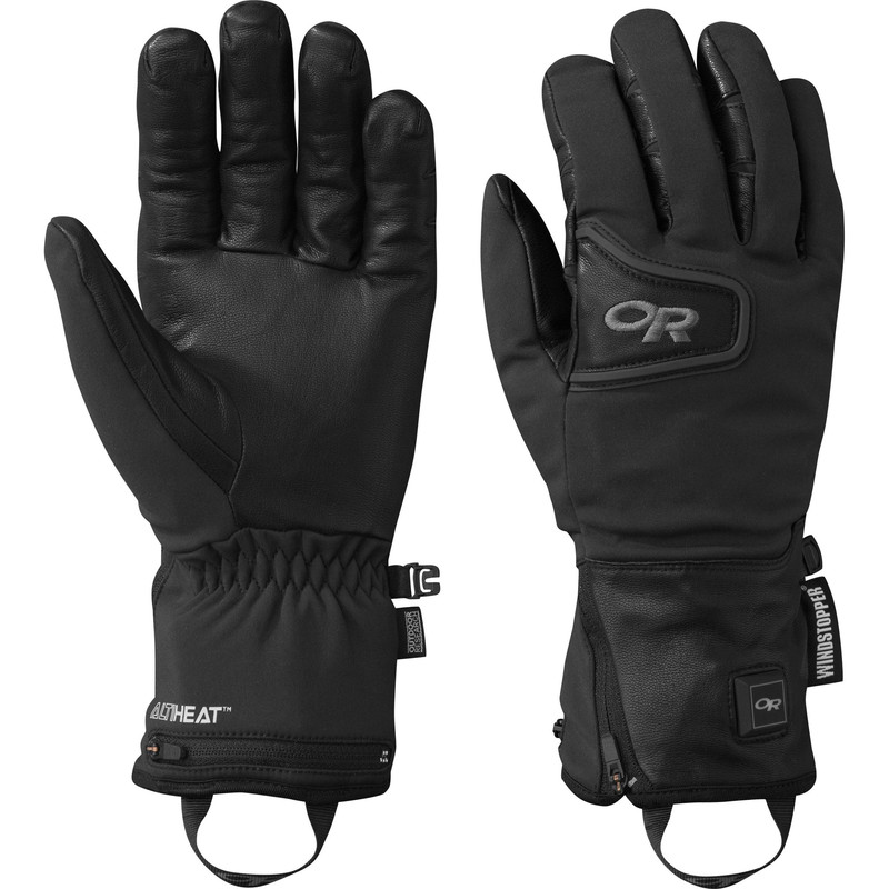 Outdoor Research Stormtracker Heated Gloves Black-30