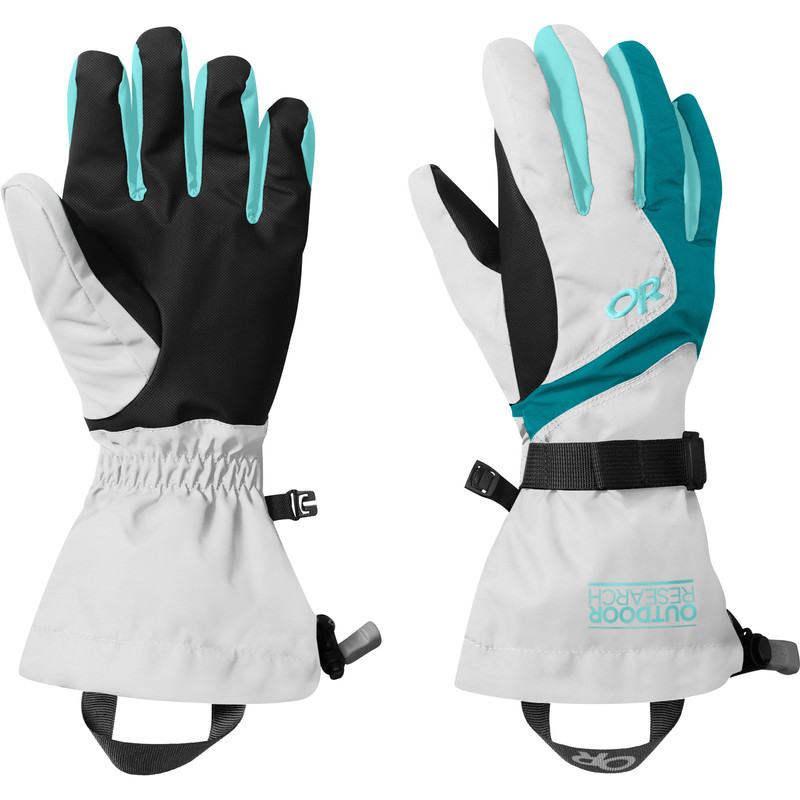 Outdoor Research Women´s Adrenaline Gloves White/Alpine Lake/Pool-30