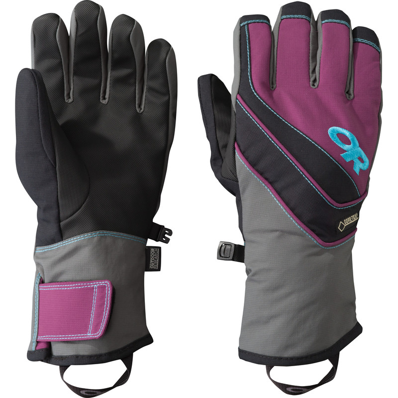 Outdoor Research - Women´s Centurion Gloves 84B-CHARCOAL/ORCHID/RIO - Gloves - S