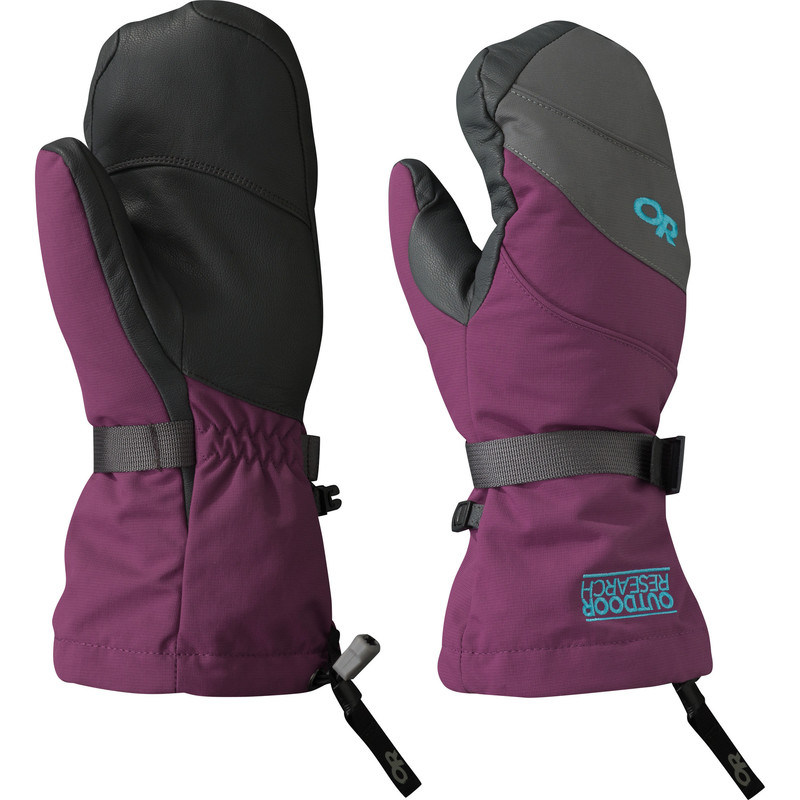 Outdoor Research - Women´s Highcamp Mitts 97B-ORCHID/CHARCOAL/RIO - Gloves - M