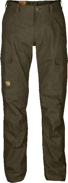 FjallRaven Ruaha Zip-Off Trousers Dark Olive-30