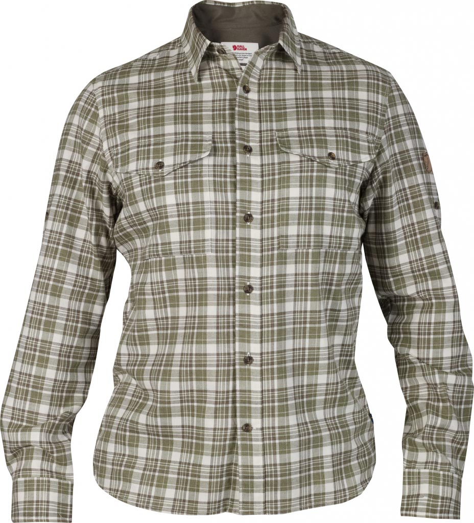 FjallRaven Sarek Flannel Shirt LS Umbra-30