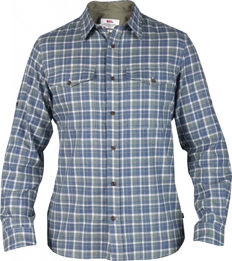 FjallRaven Sarek Flannel Shirt LS Stone Green-30