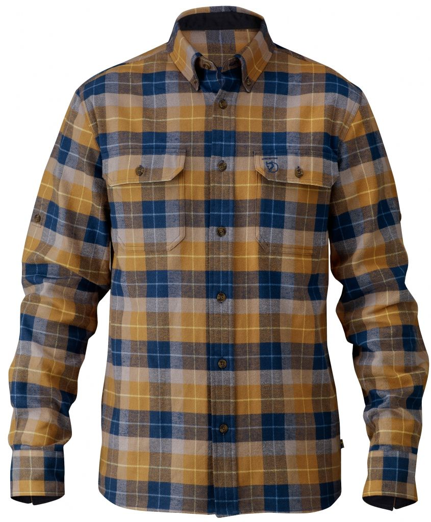 FjallRaven Sarek Heavy Flannel Shirt Tobacco-30
