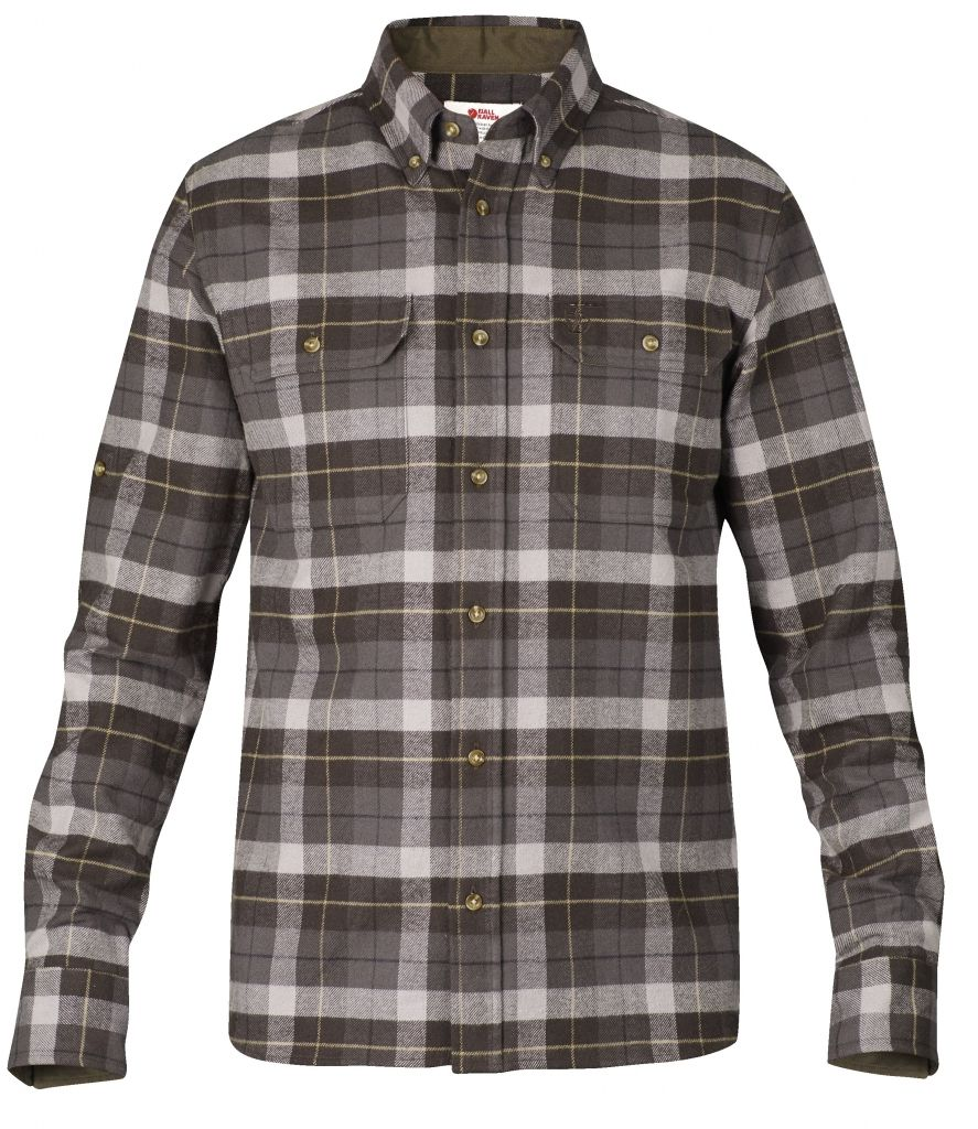 FjallRaven Sarek Heavy Flannel Shirt Black Brown-30