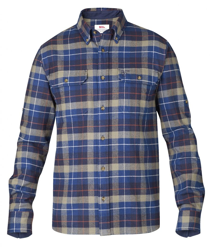 FjallRaven Sarek Heavy Flannel Shirt Navy-30