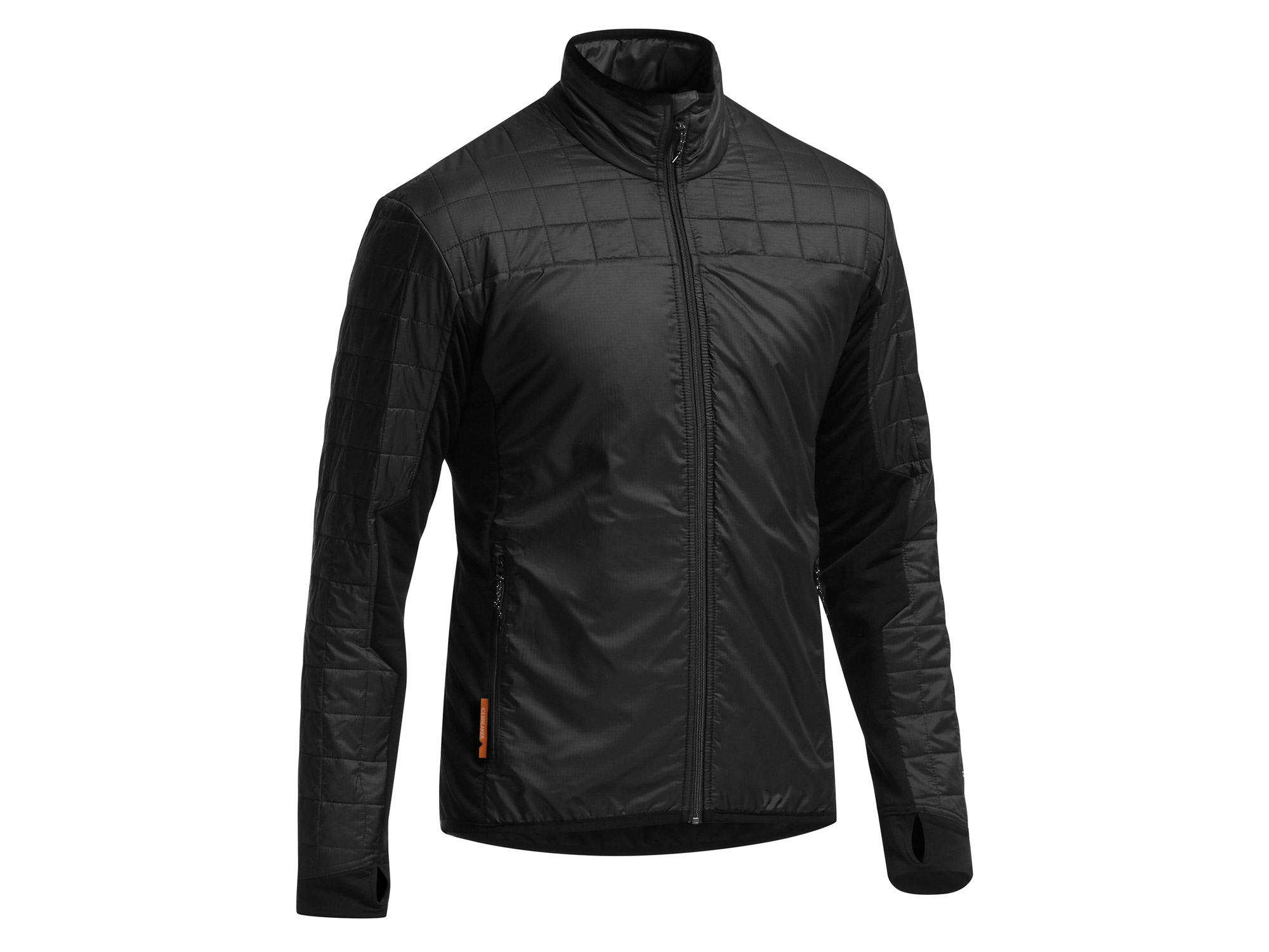 Icebreaker - Helix LS Zip Black/Black/Black - Isolation & Winter Jackets - M