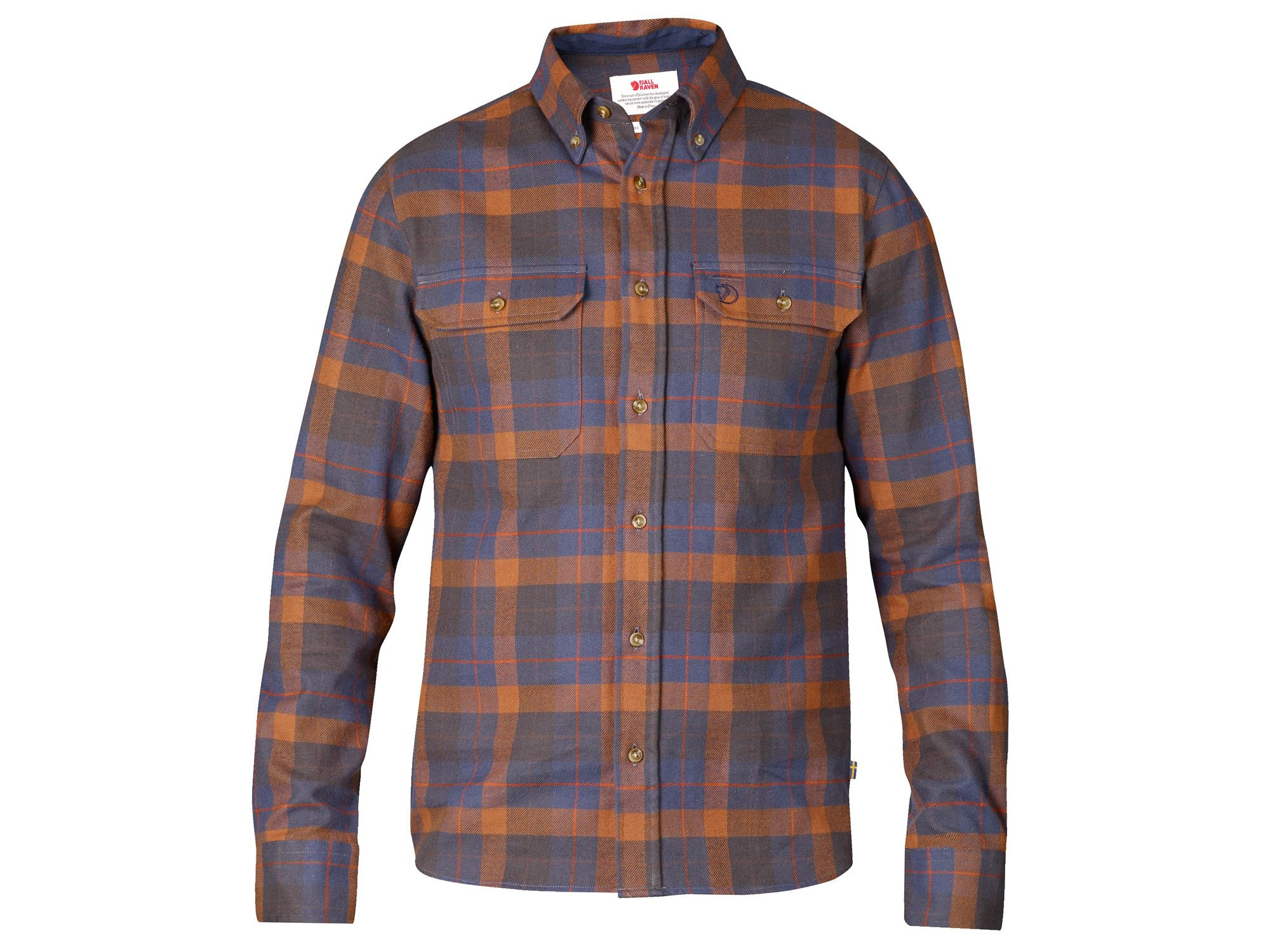 FjallRaven Sarek Heavy Flannel Shirt Autumn Leaf-30