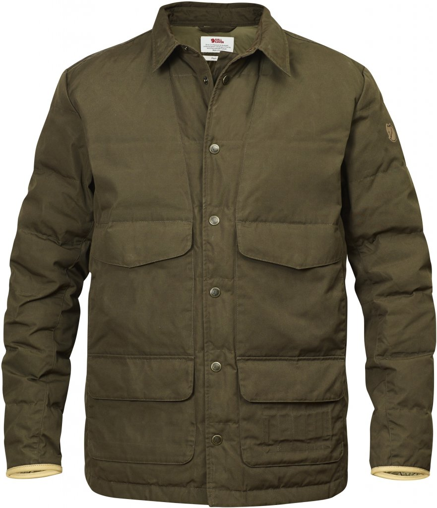 FjallRaven Sormland Down Shirt Jacket Dark Olive-30