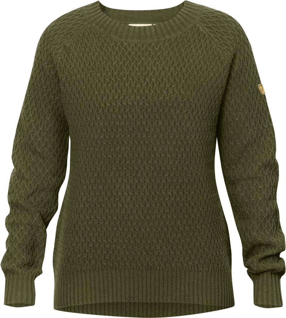 FjallRaven Sormland Roundneck Sweater W Dark Olive-30