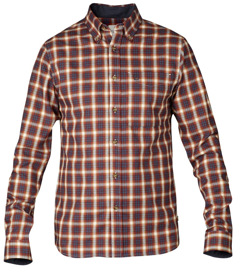 FjallRaven Stig Flannel Shirt Deep Red-30