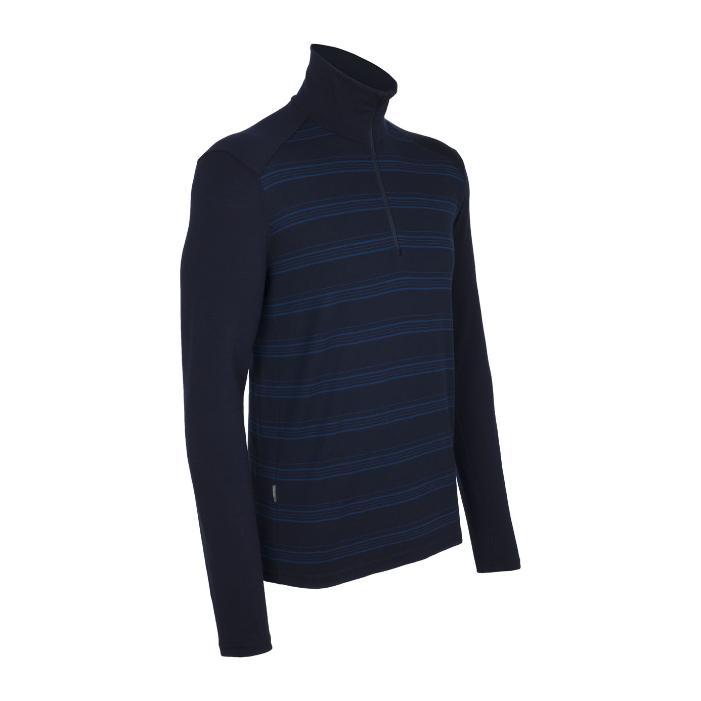 Icebreaker Tech Top LS Half Zip Stripe Admiral-30