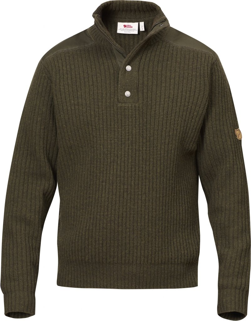 FjallRaven Varmland T-neck Sweater Dark Olive-30