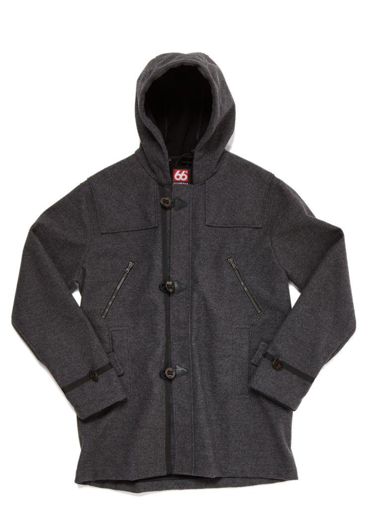 Reykjavik Duffle Coat Charcoal-30