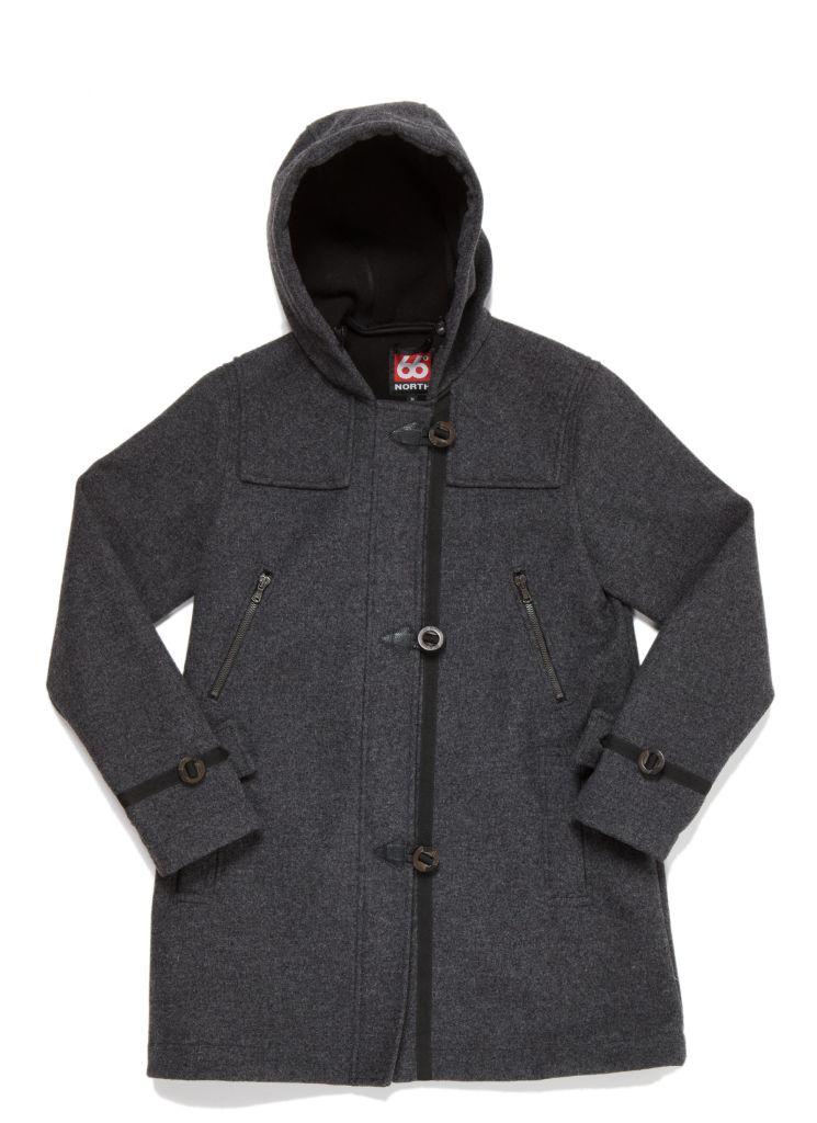 Reykjavik Women´s Duffle Coat Charcoal-30