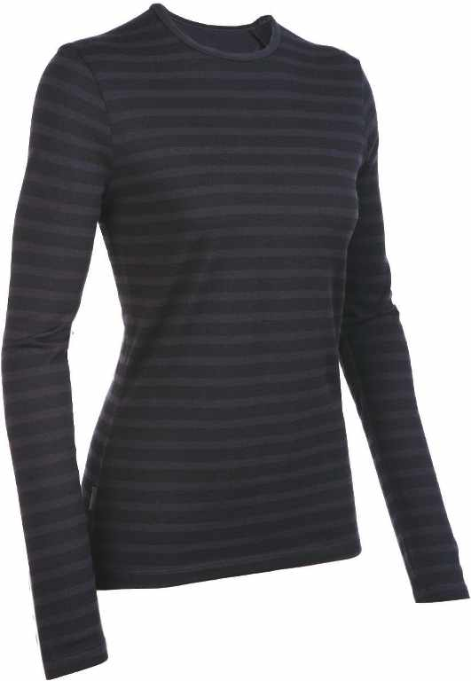 Icebreaker Tech Top LS Crewe Stripe Cognac-30