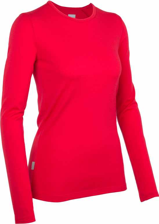 Icebreaker Tech Top LS Crewe Garnet-30