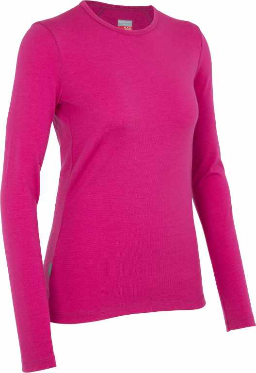 Icebreaker Tech Top LS Crewe Magenta-30