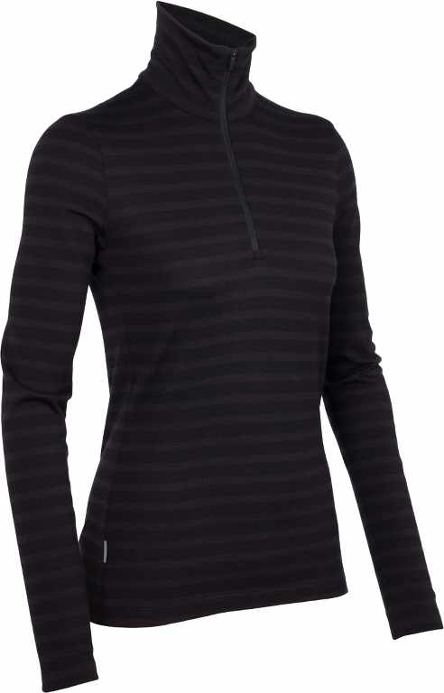 Icebreaker Tech Top LS Half Zip Stripe Cognac-30