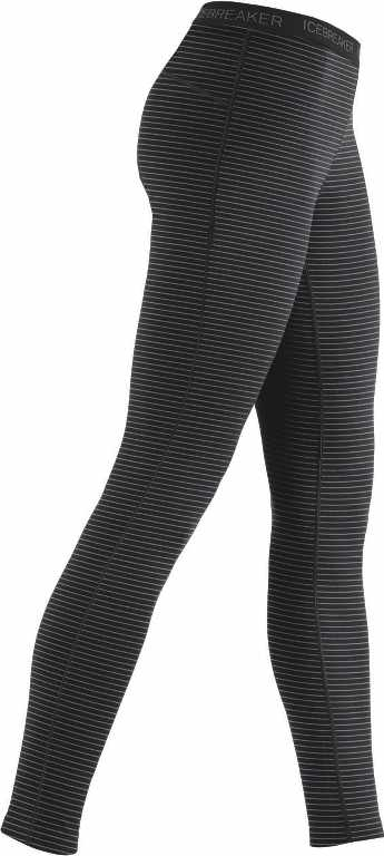 Icebreaker Oasis Leggings Stripe Black/Black-30